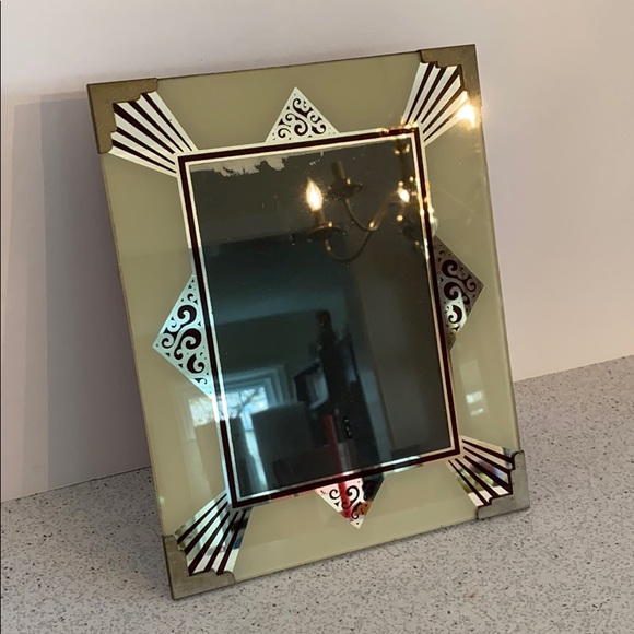 Vintage Other - Vintage Art Deco glass picture frame standing 7x5